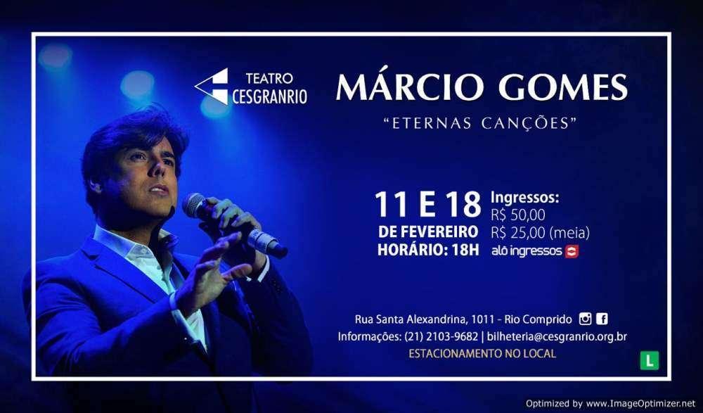 MÁRCIO GOMES NO TEATRO CESGRANRIO