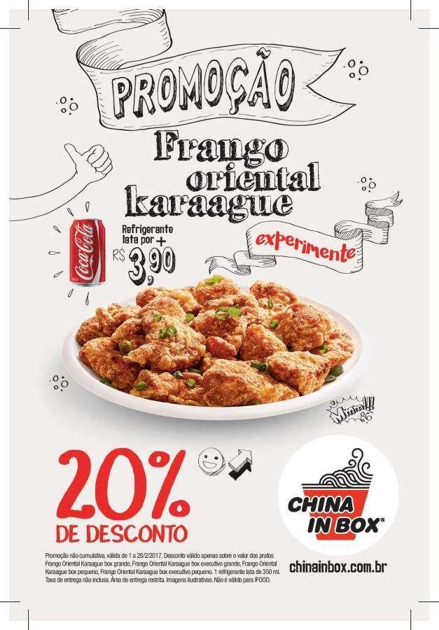 China in Box lança promoção do Frango Oriental