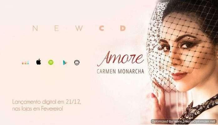 Carmen Monarcha lança álbum Amore no Teatro Eva Herz
