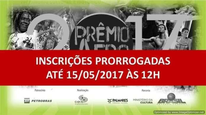 Prêmio Afro prorroga inscrições para até dia 15 de Maio