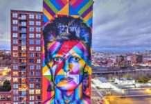 Mural sobre David Bowie nos EUA atrai muitos fãs