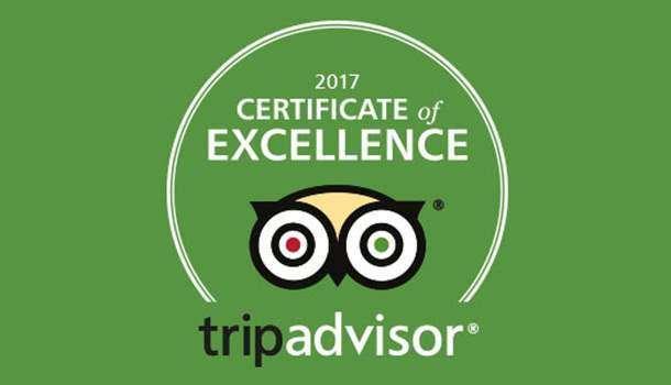 Certificado de Excelência 2017 TripAdvisor