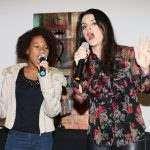 As cantoras Emily Cristiny e Paulah Gauss no Golden Tulip Rio