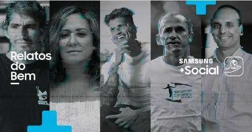 """Samsung divulga iniciativa """"Relatos do Bem"""""""
