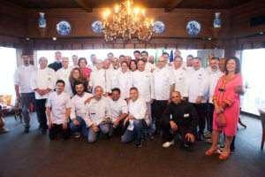 Chefs italianos e brasileiros e Erica Di Giovanrcalo--foto de Johnny Mazzili-namidia-uiara zagolin