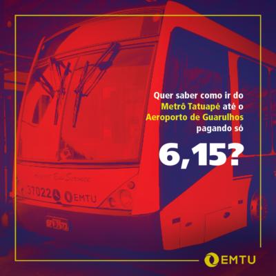 Como chegar ao Aeroporto de Guarulhos pagando R$ 6,15?