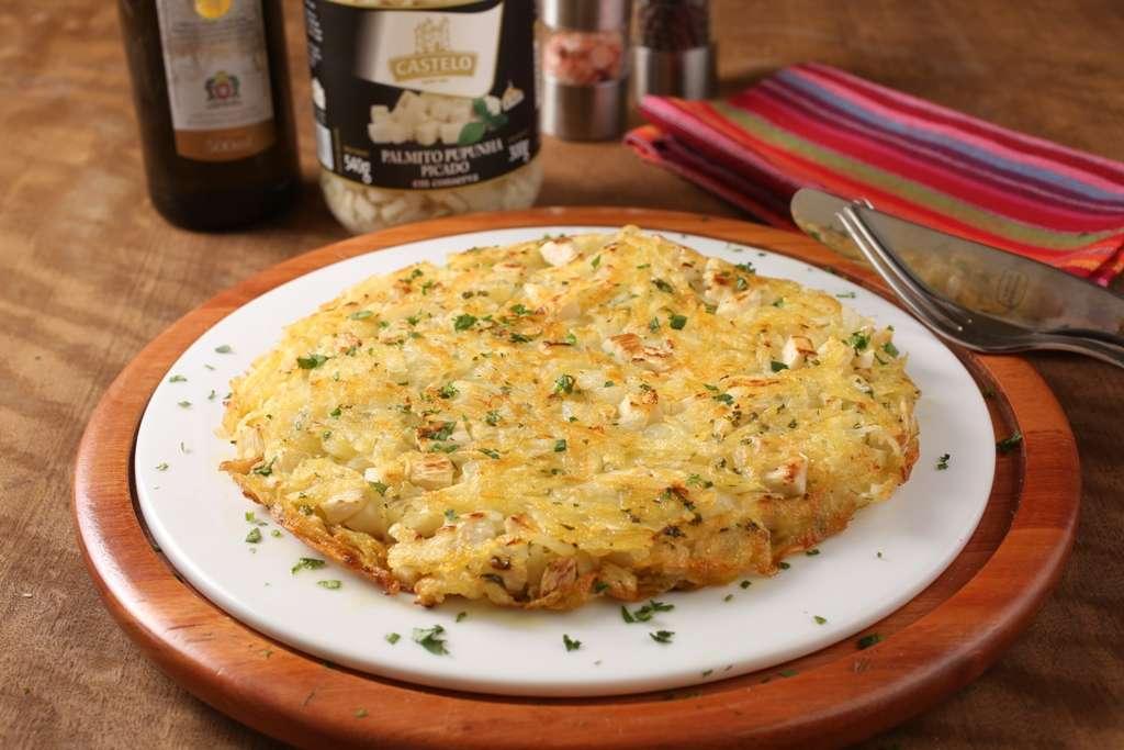 Batata Rosti com pupunha - Crocante e fácil de fazer