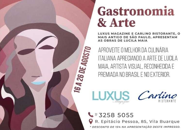 Gastronomia e arte com a premiada artista Lucila Maia