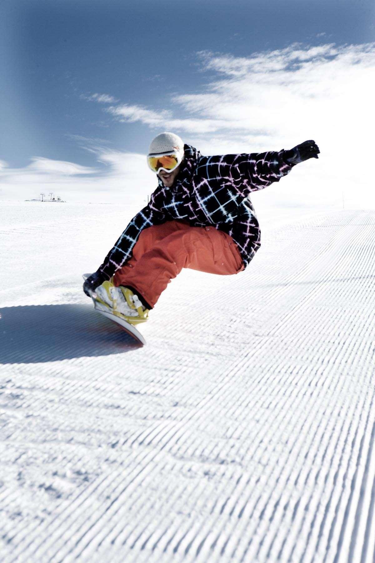 Valle Nevado com qualidade da neve para esqui e snowboard