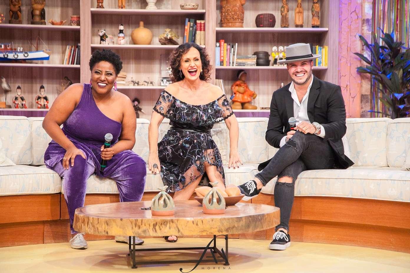 Filipe Duarte, ex-Broz e Vanessa Jackson no Ritmo Brasil