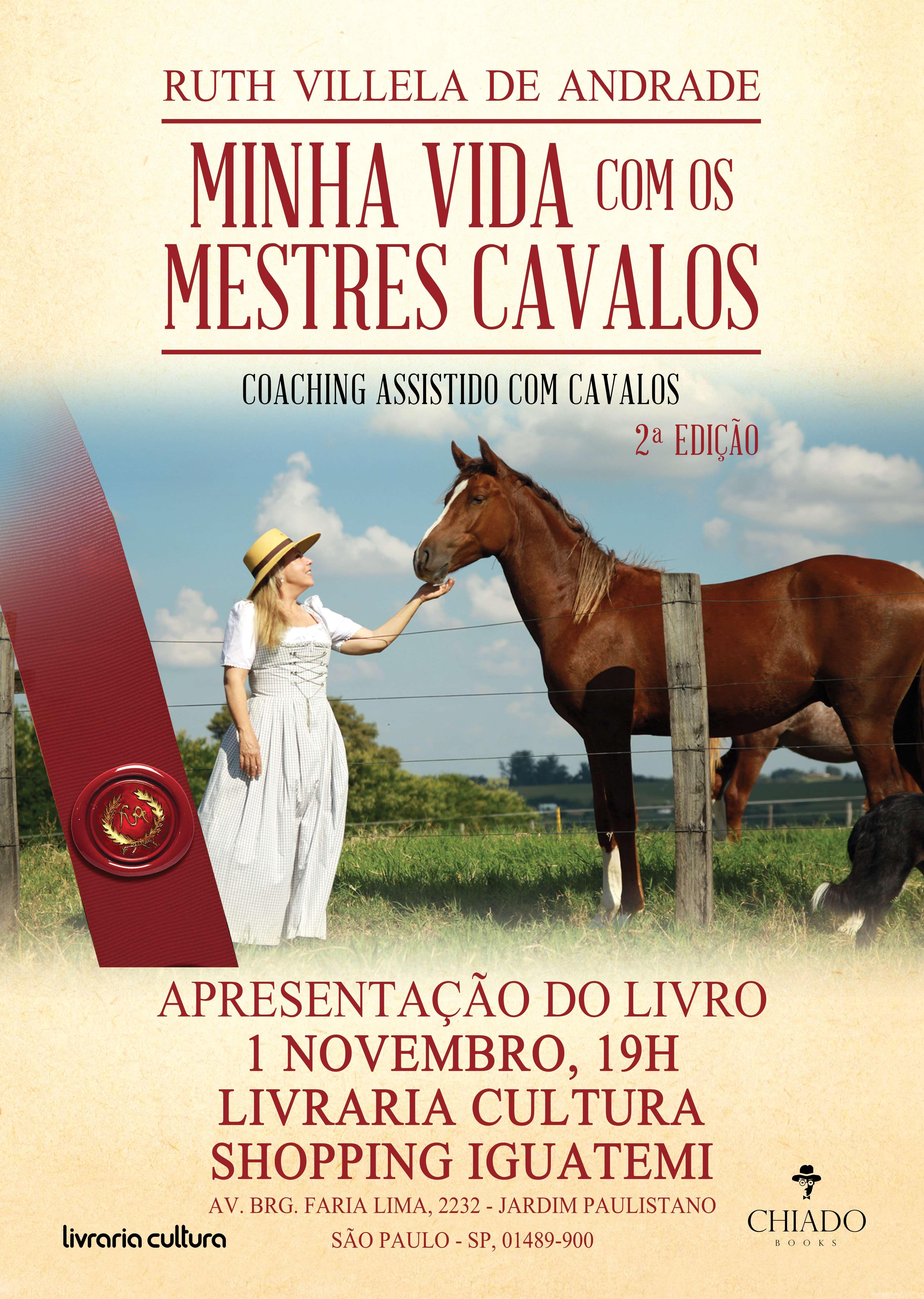 """Lançamento do livro """"Minha Vida com os Mestres Cavalos"""""""