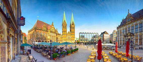 Cidade alemã Bremen abriga relíquias arquitetônicas
