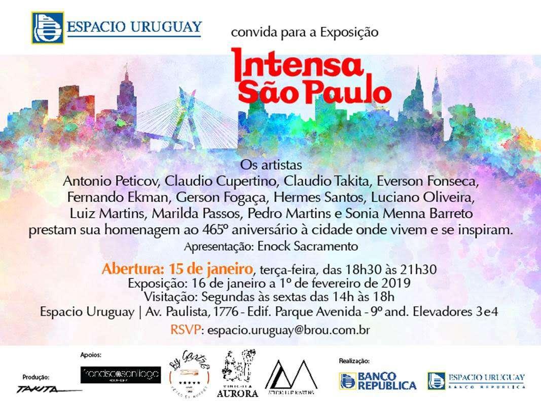 Espacio Uruguay homenageia São Paulo em seu aniversário