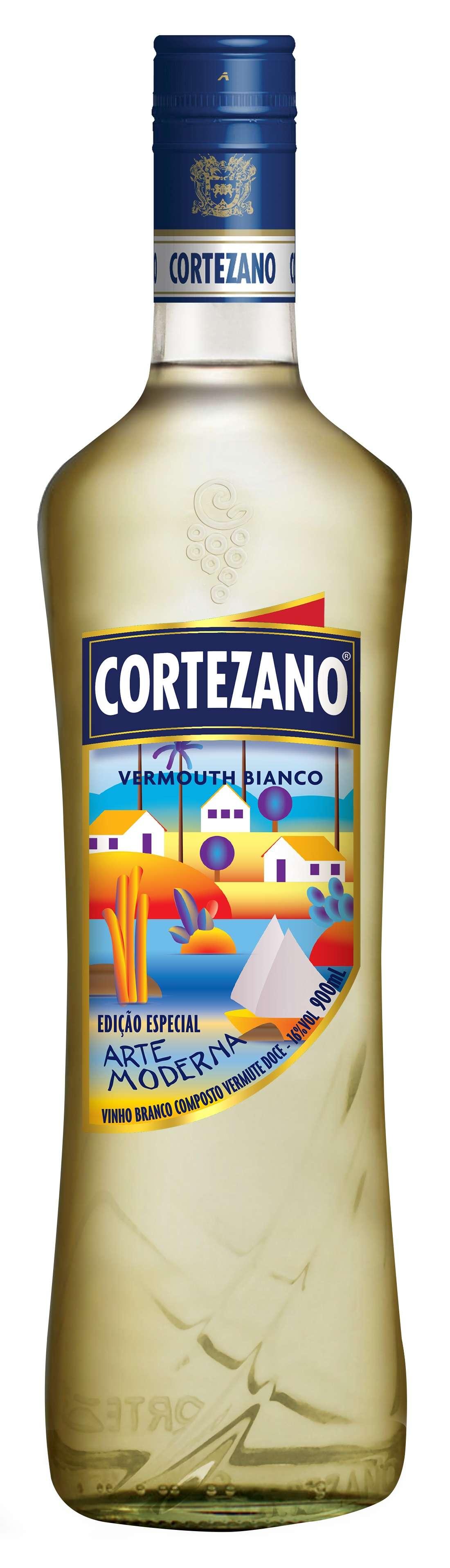 Rótulos do Vermouth com tema da nossa Arte Modernista