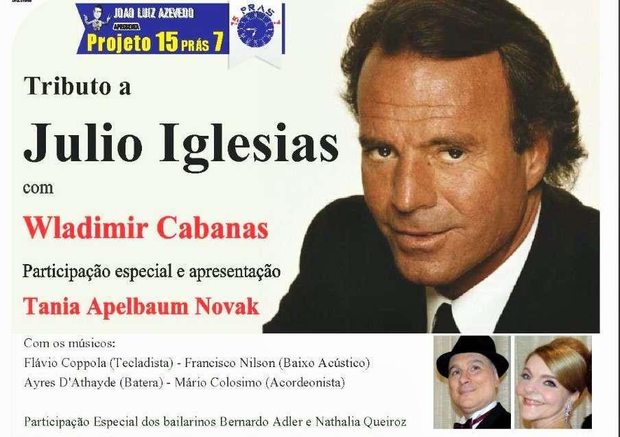 Julio Iglesias é homenageado no Rio de Janeiro