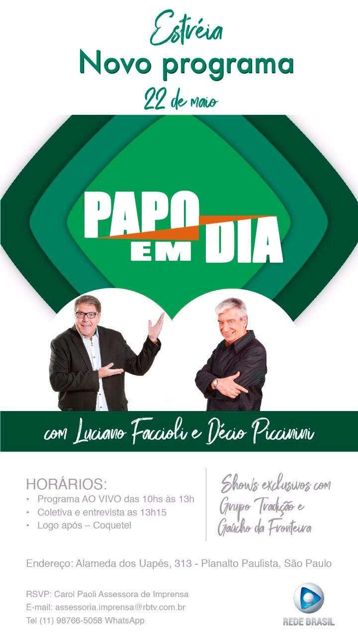 """Rede Brasil estreia novo """"Papo Em Dia"""""""