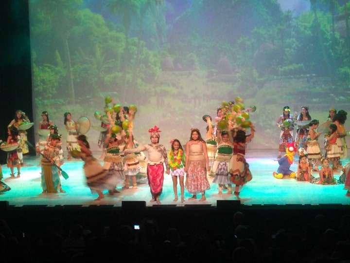 Cantora mirim Marysal no musical Moana da Teen Broadway