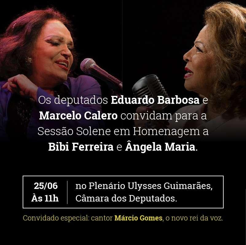 Márcio Gomes homenageia Bibi Ferreira e Ângela Maria