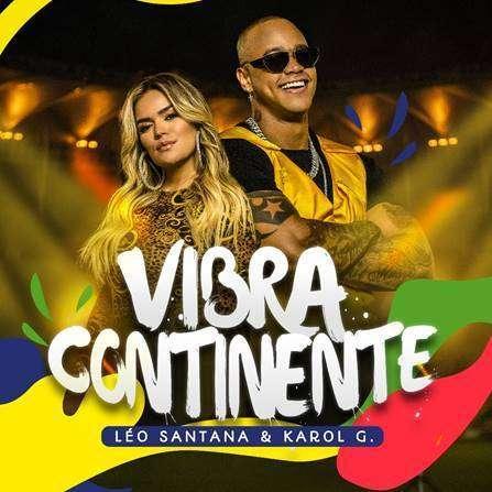 Léo Santana e Karol G cantam a música da Copa América