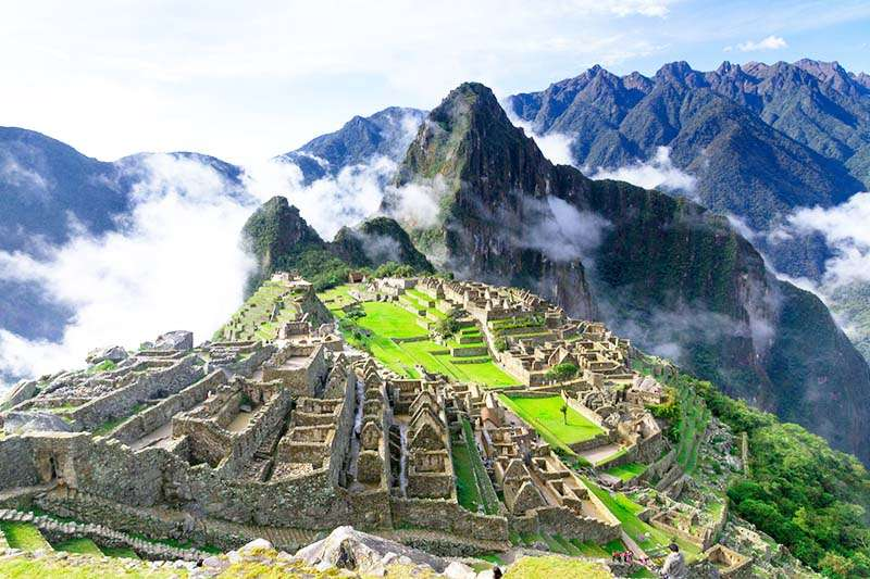 Turistando na cidade de Machu Picchu no Perú