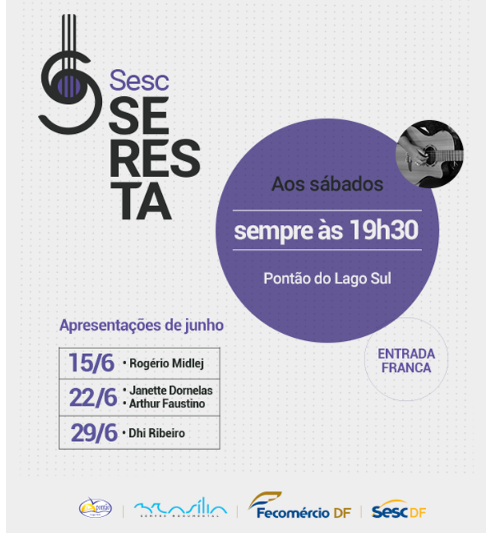 Edição 2019 do Sesc Seresta embala as noites no Pontão