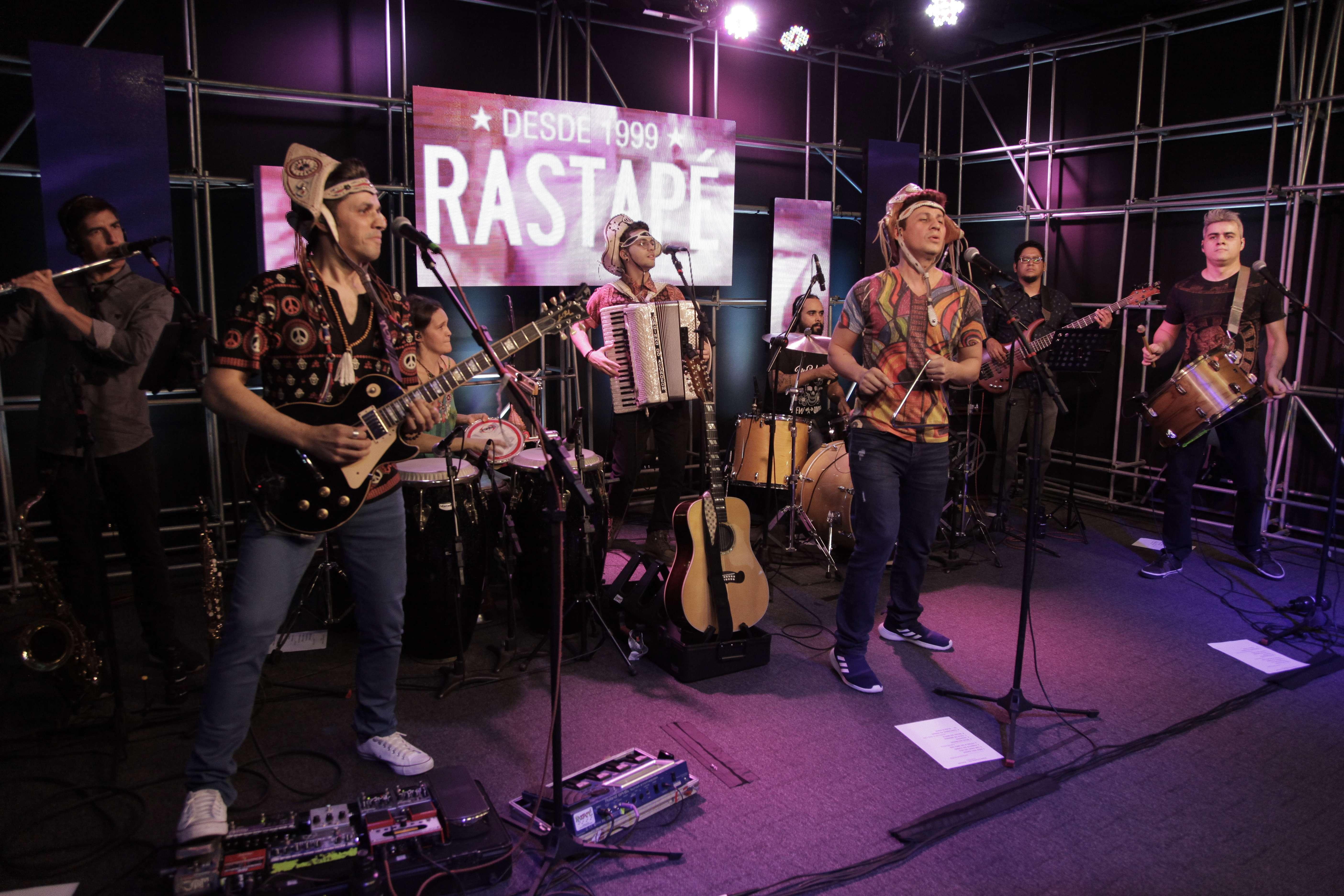 Lançamento Rastapé no Estudio Showlivre