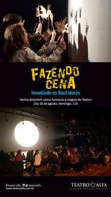 Teatro Infantil - Fazendo Cena - Invadindo os Bastidores
