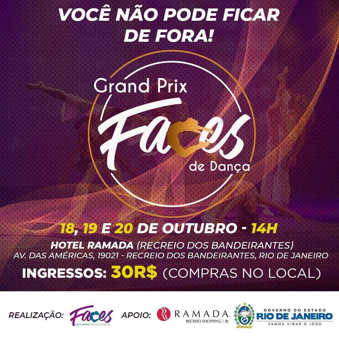 """""""Grand Prix Faces de Dança"""" no Rio de Janeiro"""