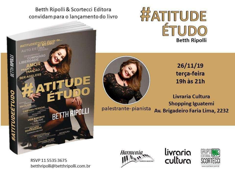 "Betth Ripolli lança ""Atitude é Tudo"""
