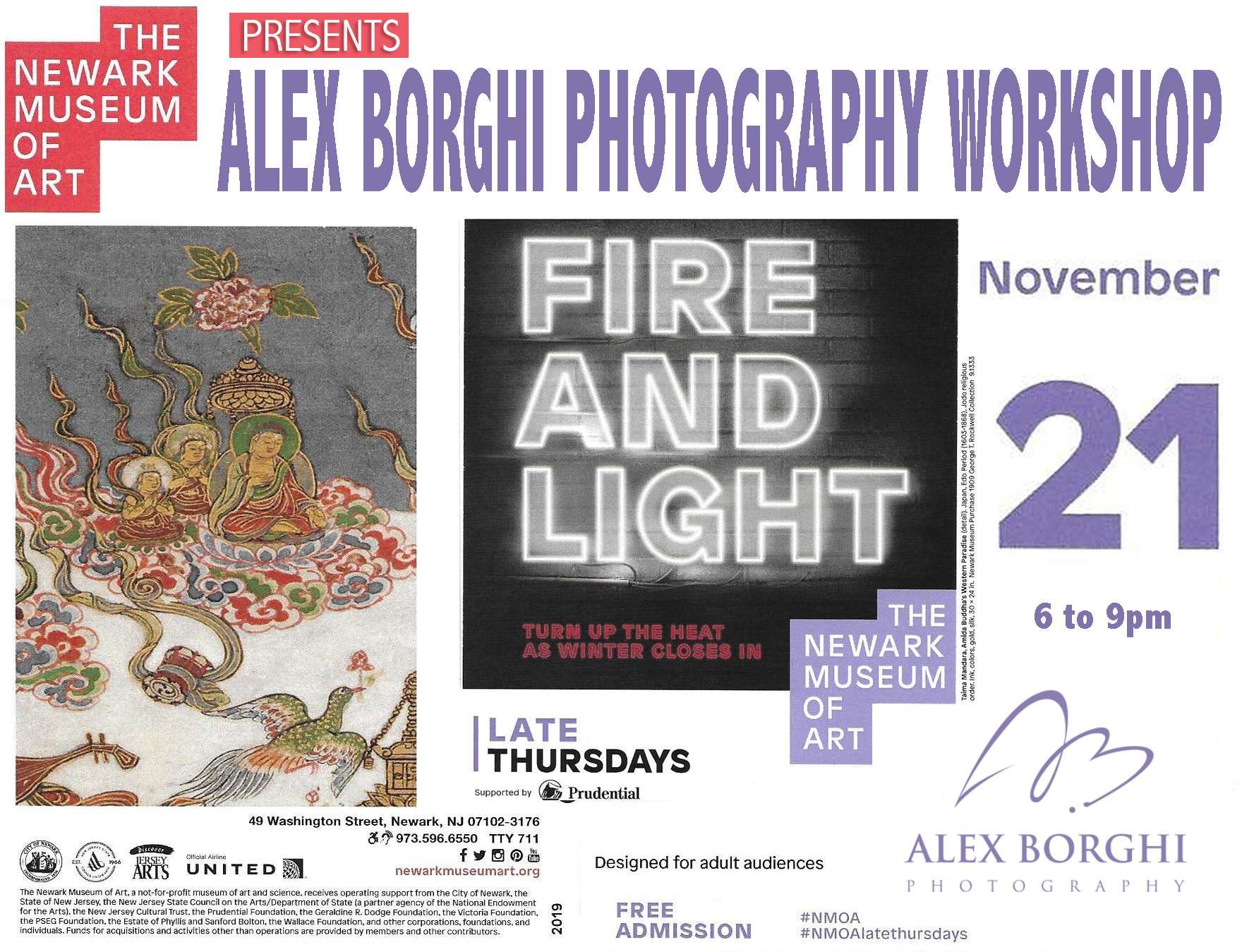 """""""Fire and Light"""" no Newark Museum of Art"""