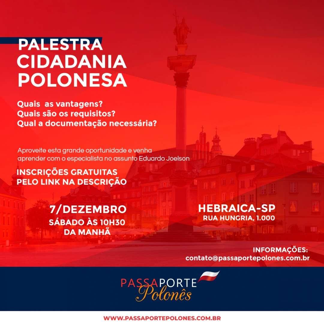 "Palestra sobre ""Cidadania Polonesa"""