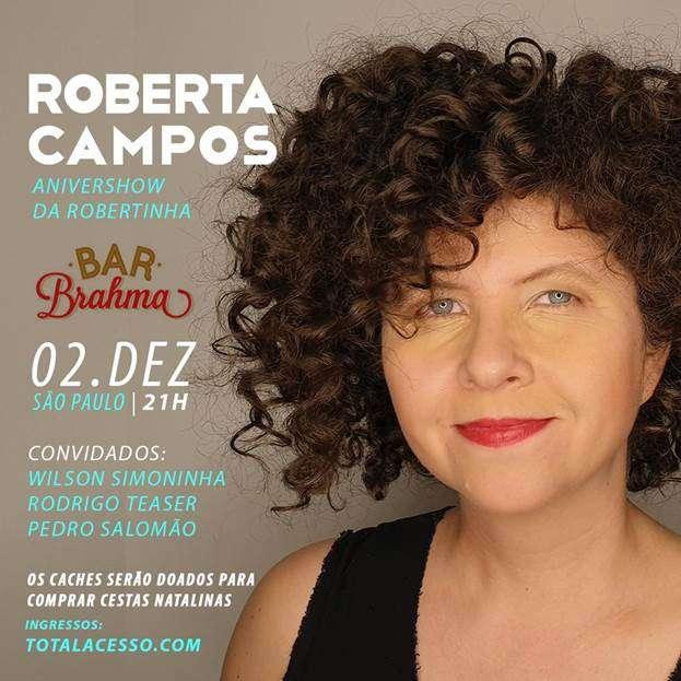 Roberta Campos com amigos no Bar Brahma