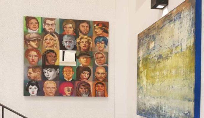Artista Plastica Maria Cristina Zilli em Mostra de Arte