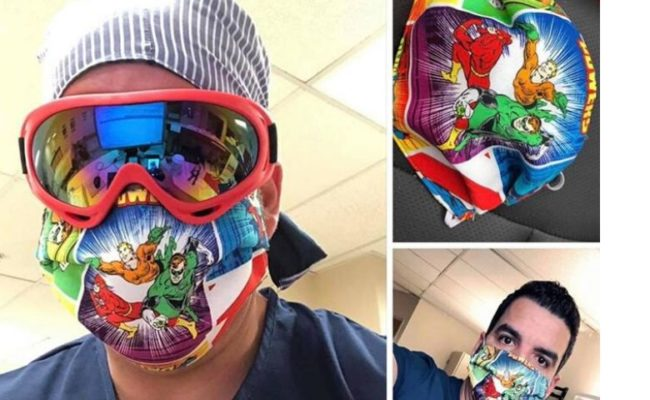 Profissionais da Saúde ganham máscaras de mãe e filha