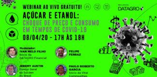 DATAGRO promove Webinar gratuito sobre Açúcar e Etanol