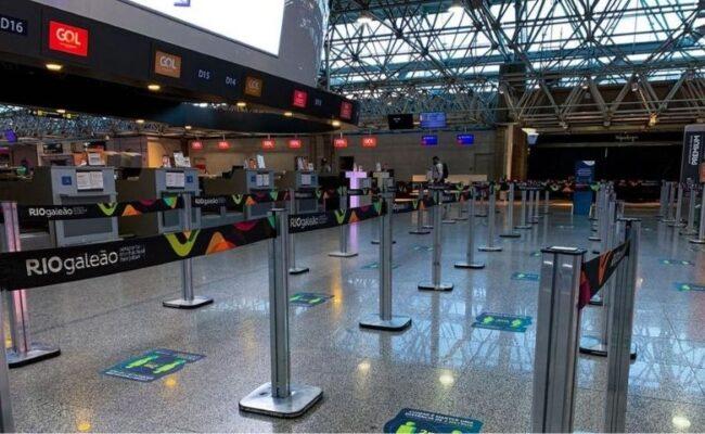 Primeiro voo internacional regular no Aeroporto do Galeão