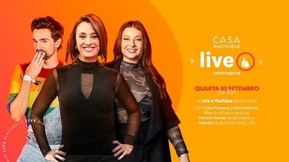 Catia Fonseca apresenta live daCasa Riachuelo