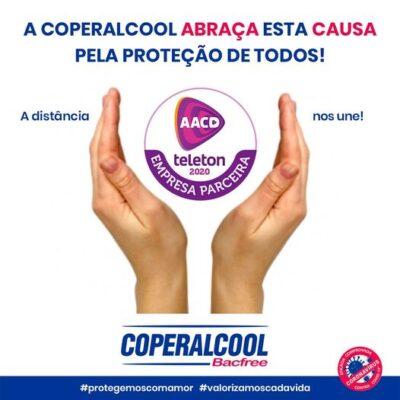 Coperalcool contribui com produtos para o Teleton 2020