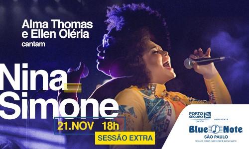 Nina Simone nas vozes de Alma Thomas e Ellen Oléria