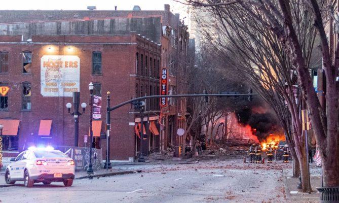 """Explosão em Nashville foi """"ato intencional"""""""