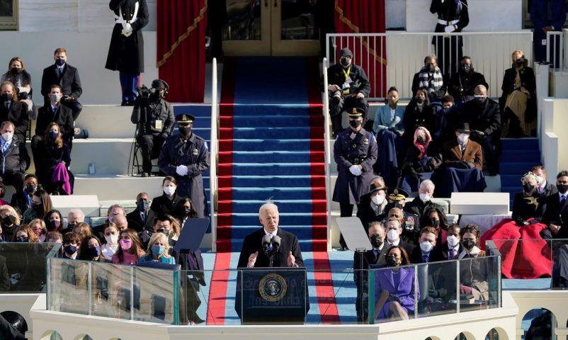 A posse do 46º presidente dos Estados Unidos