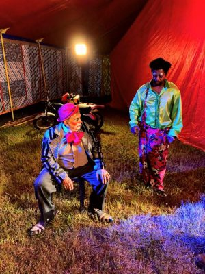 Pedro Pauleey e Dedé Santanna em Corona Circus