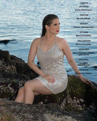 A atriz Evelyn Montesano ganha projeção internacional