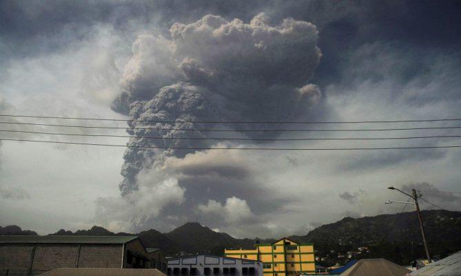 Maior explosão vulcânica da história do Caribe