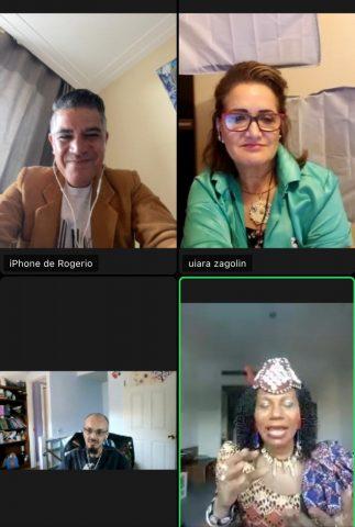 Rainha do Congo reúne com Fundador da Educacoin.