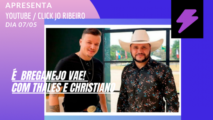 Dupla Thales e Christiano no canal Click Jo Ribeiro