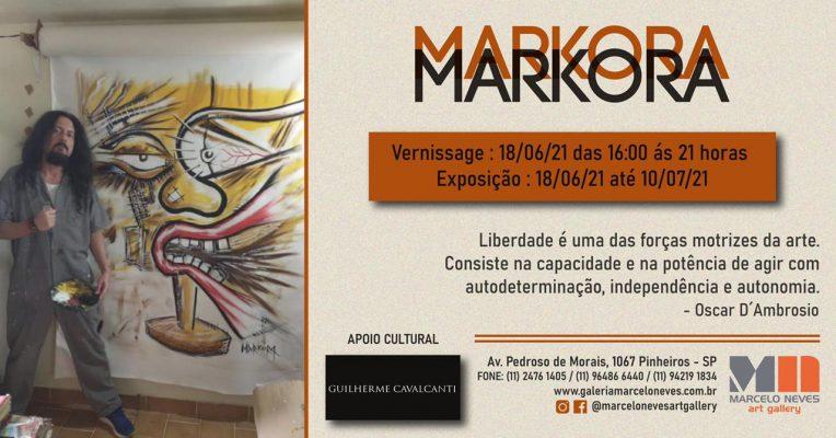 Mostra Individual do artista plástico Markora