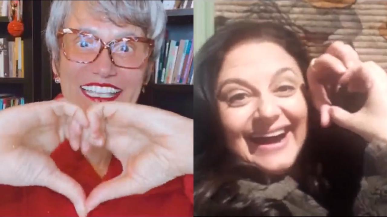 Carla Fioroni comenta em live com Faa Morena