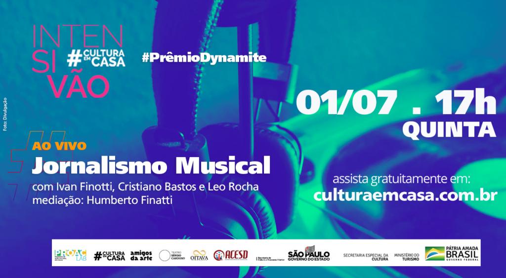 Prêmio Dynamite faz palestra sobre jornalismo musical dia 1º/7 as 17h