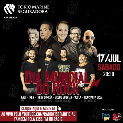 Kiss FM e o Tom Brasil no Dia Mundial do Rock